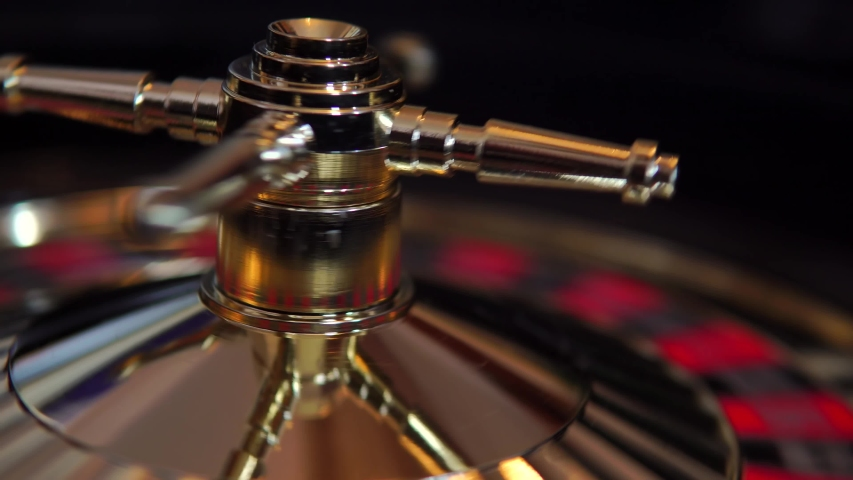 Cinematic Roulette Wheel Spinning In Casino, 4K Gambling. | Shutterstock HD Video #1054299920