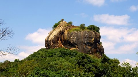 View on Pinnawala mountain in Sri Lanka