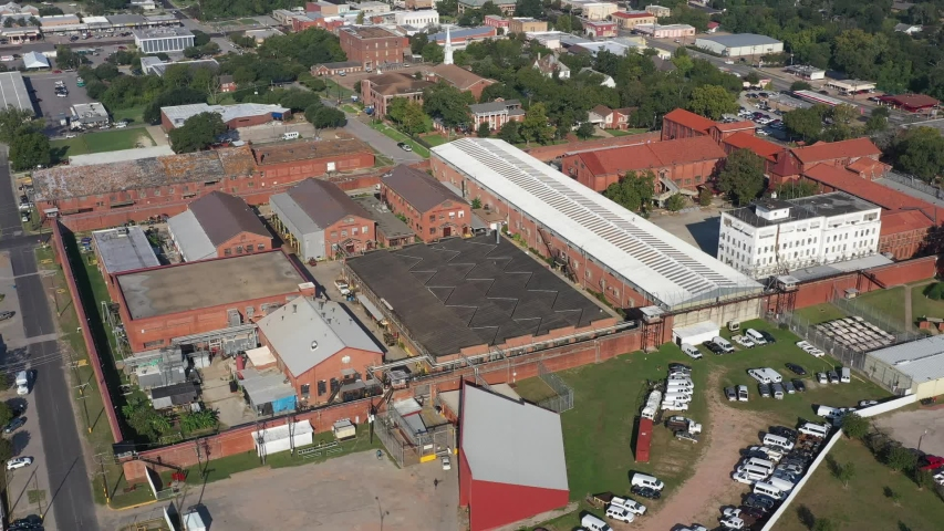 Prison Buildings and Wall, Huntsville, Texas, USA