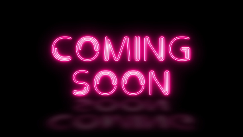 Coming soon text neon lights animation promote advertising next business concept Royalty-Free Stock Footage #1054321961