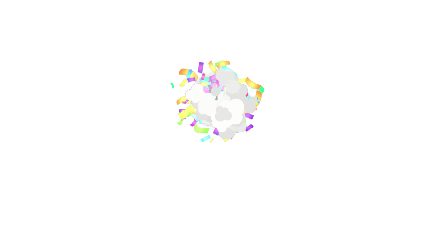 Colorful 3D blast of confetti falling with alpha channel | Shutterstock HD Video #1054330628