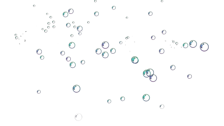 Air bubbles floating and burst under transparent water on black background. Royalty-Free Stock Footage #1054330643