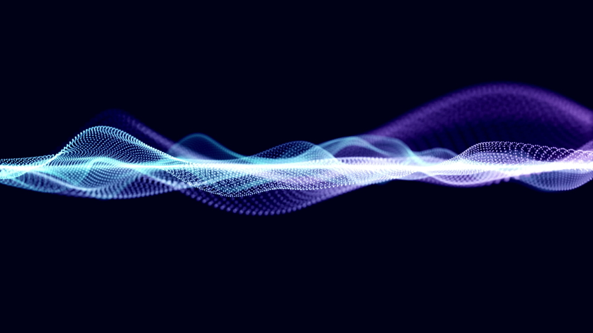 Technology digital blue purple wave abstract title blurred animation for background. | Shutterstock HD Video #1054336550