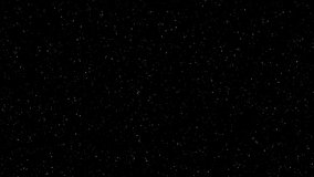 4K Video footage Motion of shinny stars animation on black background. Night stars skies with twinkling or blinking stars motion background. Looping seamless space backdrop travel.