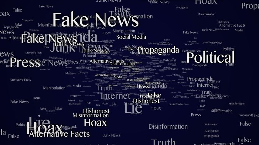 Fake News Keywords Animation, Background, Loop, 4k  | Shutterstock HD Video #1054340921