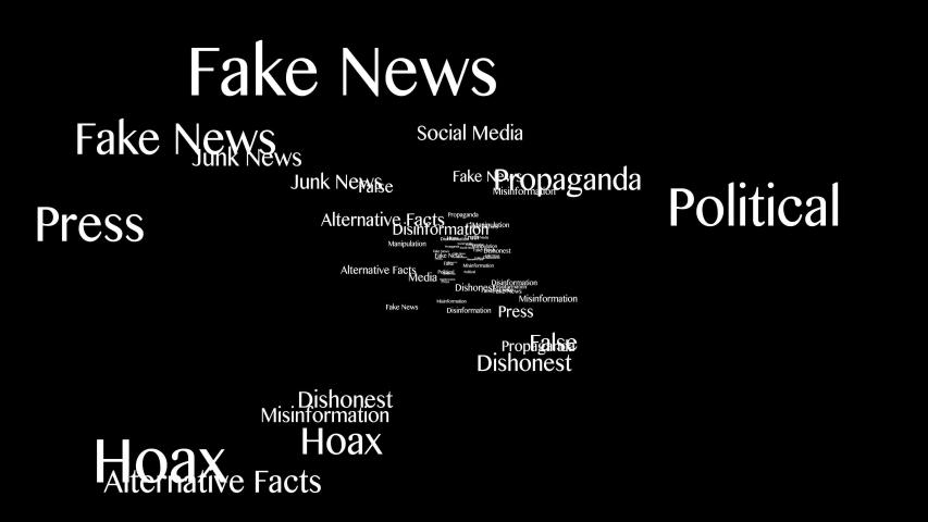 Fake News Keywords Animation, Background, Loop, 4k  | Shutterstock HD Video #1054345256