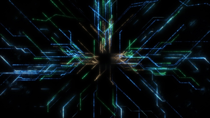 Motion abstract technology concept background, Digital technology background concept with technology line light effects. Royalty-Free Stock Footage #1054345952