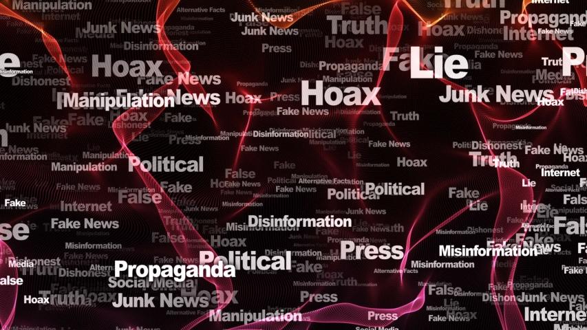 Fake News Keywords Animation, Background, Loop, 4k  | Shutterstock HD Video #1054353527