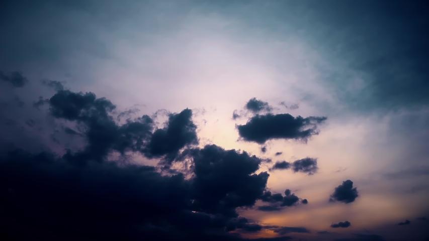 Sunset Clouds Evening Sky nature | Shutterstock HD Video #1054354355