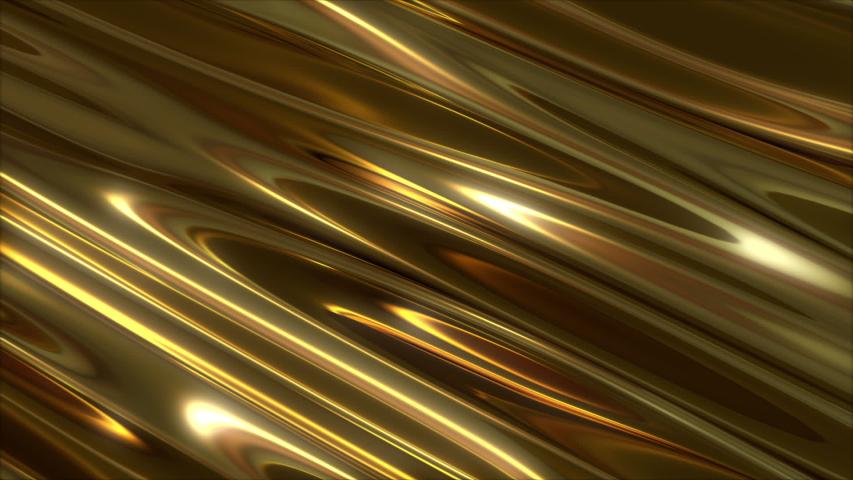 Abstract gold rich wave distortion bg | Shutterstock HD Video #1054355756