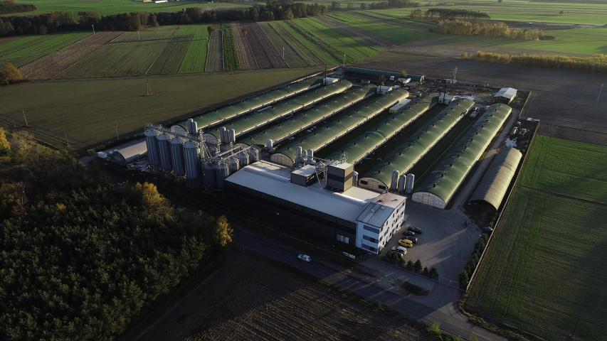 Drone footage of the modern farm | Shutterstock HD Video #1054362767