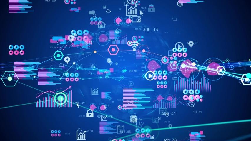 Statistics of business concept. Marketing. Analysis. | Shutterstock HD Video #1054365683