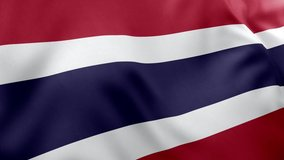 A beautiful view of Thailand flag video. 3d flag waving video. Thailand flag HD resolution. Thailand flag Closeup 1080p Full HD video.