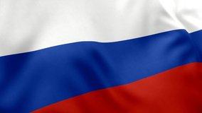 A beautiful view of Russia flag video. 3d flag waving video. Russia flag HD resolution. Russia flag Closeup 1080p Full HD video.