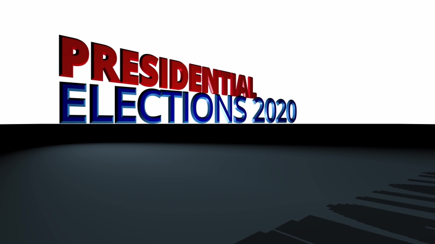 Dynamic 3D Presidential election  title or logo page animation.   Shutterstock HD Video #1054377884