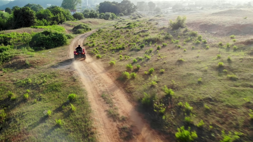 Off-road vehicle atv sand track nature sports | Shutterstock HD Video #1054390220