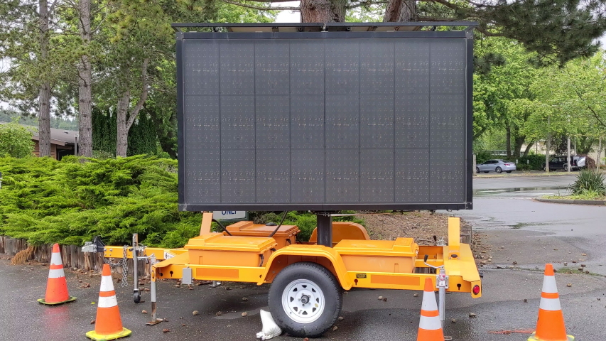 Covid 19 Mobile Street Sign in Bellingham, Washington USA- Phase 2, Wear a Facemask, Park Closed, Recreate Wisely, Keep 6 Feet Apart   Shutterstock HD Video #1054395458