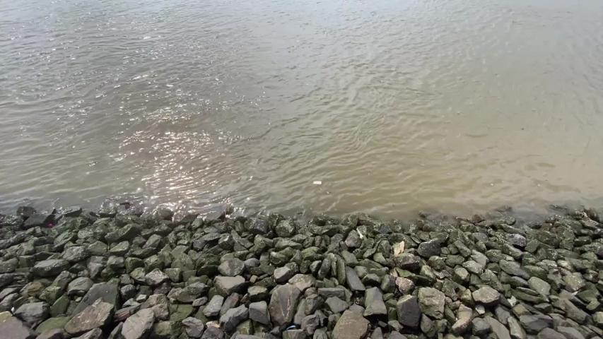 stack stones on coast near water