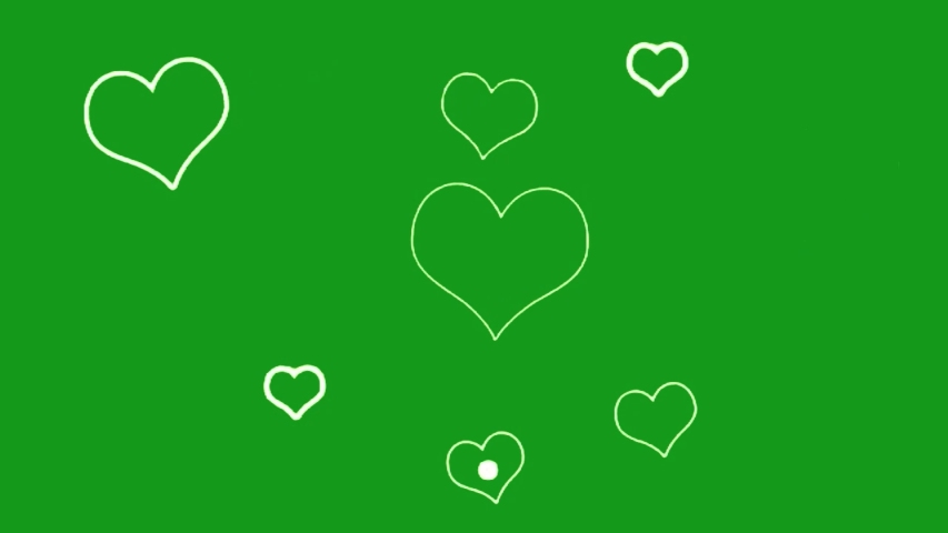 Heart shapes green screen motion graphics | Shutterstock HD Video #1054401221