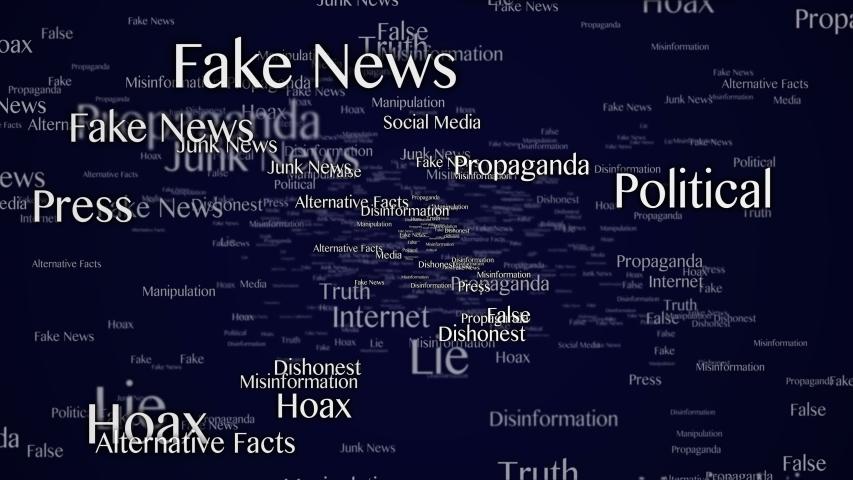 Fake News Keywords Animation, Background, Loop, 4k  | Shutterstock HD Video #1054403681