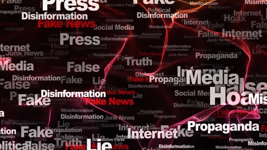 Fake News Keywords Animation, Background, Loop, 4k  | Shutterstock HD Video #1054404701