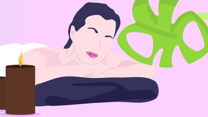 SPA, Resort, Massage, Wellness center. Motion Graphics Background. Women massage. Perfect for video promotion, video post/story, or any other social media video marketing mission.