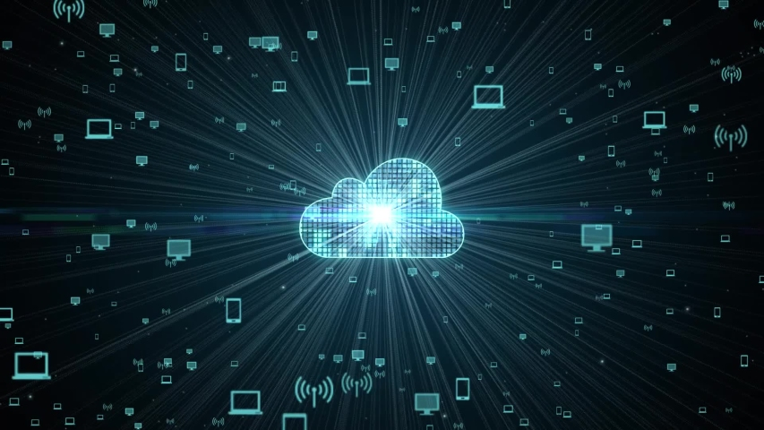 Cloud computing concept. Business, technology, internet and networking concept.