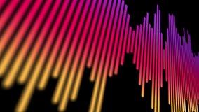 Sound or audio waveform on black background . soundwave design . 4K video .