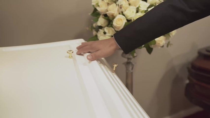 Church rose mortuary funeral flower Royalty-Free Stock Footage #1054425944