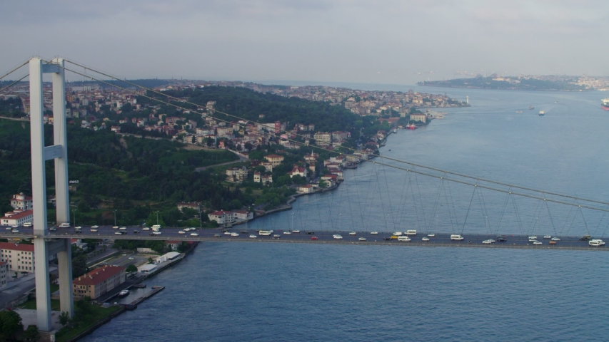 Bridges are connects European and Asian Continents at The Istanbul Bosphorus.
