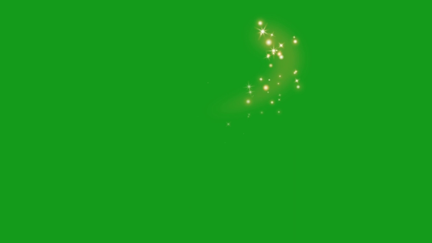 Shining star particles green screen motion graphics | Shutterstock HD Video #1054462517