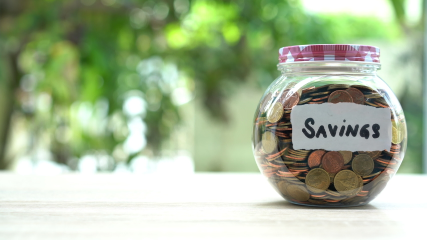 Increasing row of Money is present to saving money concept and coin stack growing to do business,savings money. | Shutterstock HD Video #1054476239