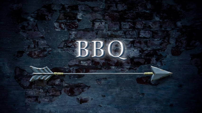 Street Sign the Way to BBQ | Shutterstock HD Video #1054476797