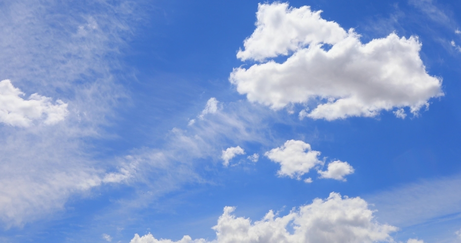 beautiful cloud Blue sky with clouds 4K Time lapse clouds #1054487480