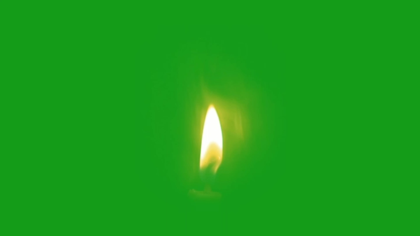 Candle light green screen motion graphics Royalty-Free Stock Footage #1054523291
