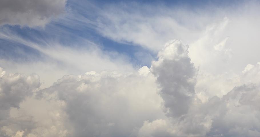 4K CLOUD dark bright fluffy clouds tropical #1054534670
