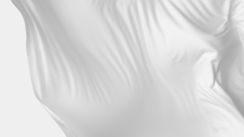 White cloth waving in the wind flying away revealing background. Abstract silky fabric. 4K 3D animation with luma matte mask. Royalty-Free Stock Footage #1054536203