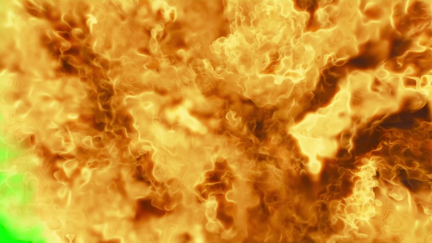 Fire Explosion blast, Nuclear Bomb, 3D Rendering, VFX Explosion Animation With Alpha channel.