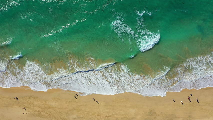Spain, Canary Islands, Fuerteventura, aerial view over the shoreline on the Jandia Peninsula | Shutterstock HD Video #1054603400