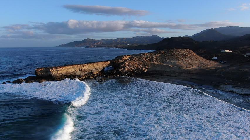 Spain, Canary Islands, Fuerteventura, La Pared and Playa Pared | Shutterstock HD Video #1054603439