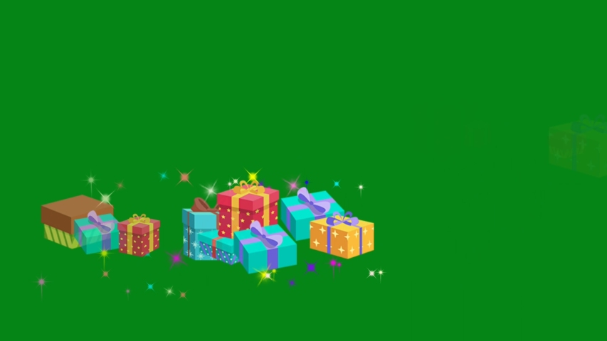 Festival gifts motion graphics with green screen background | Shutterstock HD Video #1054672439