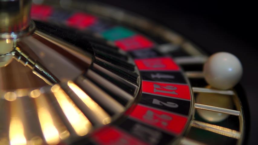 Cinematic Roulette Wheel Spinning In Casino, 4K Gambling. | Shutterstock HD Video #1054675070