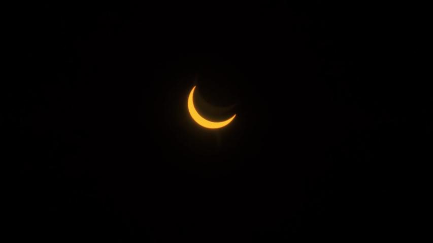 Solar Eclipse Partial. 21st June 2020. Hong Kong, Asia.   Shutterstock HD Video #1054685096