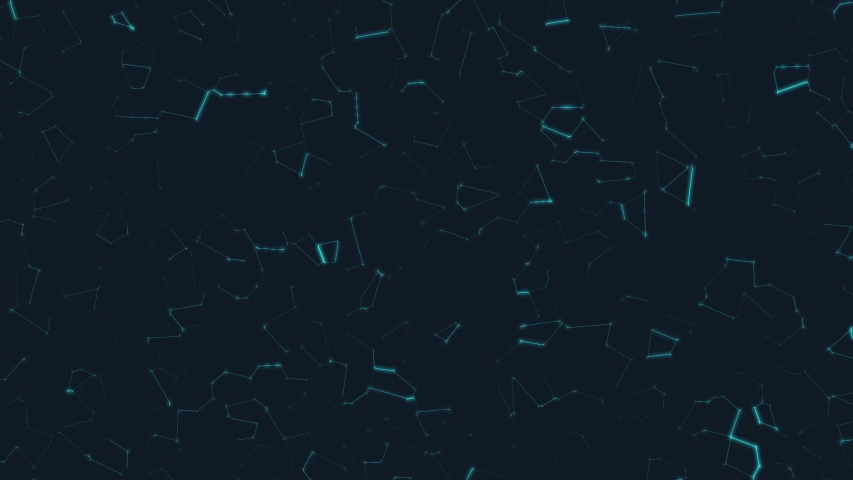 Technology Background. Digital Background. Abstract Background. Neural Network. Stock Motion Graphic. Animation. Intro for Presentation. Futurism. Geometric Pattern. FULL HD.  | Shutterstock HD Video #1054689497