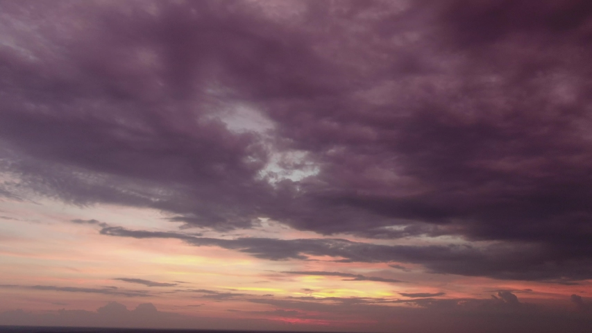 Beautiful stormy sky with clouds | Shutterstock HD Video #1054691030