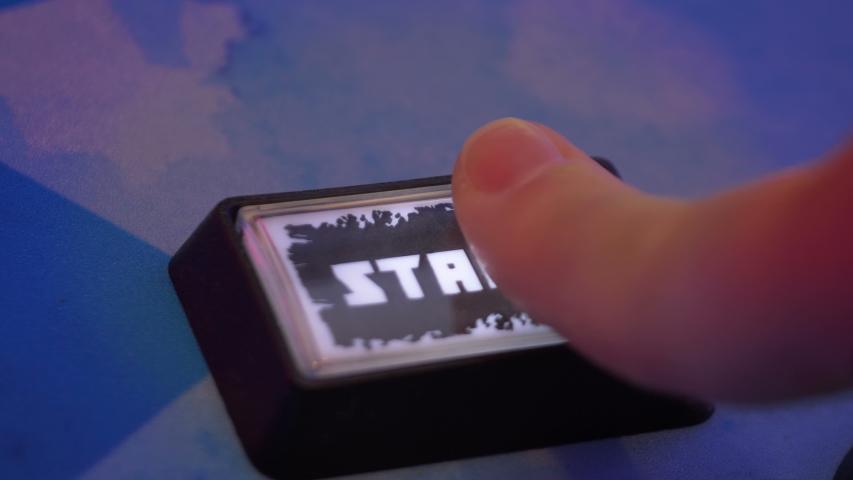 Pressing a start button in 4k slow motion 60fps | Shutterstock HD Video #1054691456