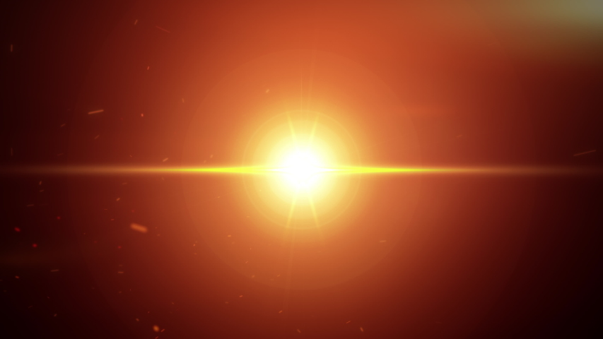Optical Flares Explosion 4k Footage Glow orange gold flares blast with particle dust and cloud on Black Background Footage for Cinematic Trailer Burst Optical Flare backdrop or background.  Royalty-Free Stock Footage #1054697213