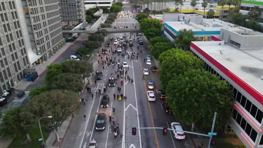 Black Lives Matter Protest Downtown Los Angeles