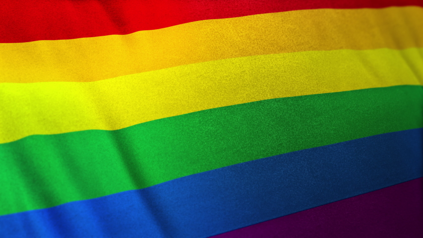 Seamlessly looping 3D animation of Rainbow Gay Pride Flag. Representing the Self-Respect the Homosexual movement along in the spirit of the original LGBT rainbow flag in its design. | Shutterstock HD Video #1054703819