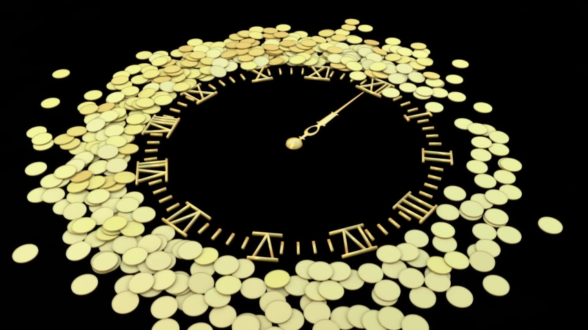 This is time money coinsaving currency video | Shutterstock HD Video #1054708676